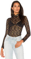 Nightcap Clothing Sheer Merletto Blouse in Black. - size 1 (XS) (also in 2 (S),3 (M),4 (L))