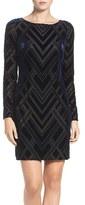 Vince Camuto Women's Burnout Velvet Sheath Dress