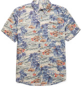 Faherty Printed Voile Shirt - Green