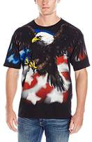 Liquid Blue Men's Plus-Size American Eagle Blk T-Shirt