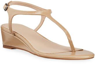 Splendid Morrie Metallic Thong Demi-Wedge Sandals