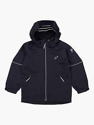 Polarn O. Pyret Children's Waterproof Shell Coat, Navy