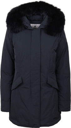 Woolrich Blue Padded Jacket Technical Fabric