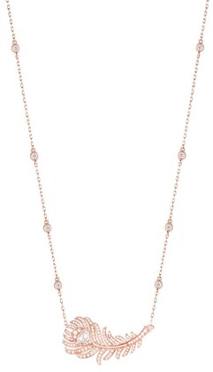 Boucheron Rose Gold and Diamond Plume de Paon Necklace