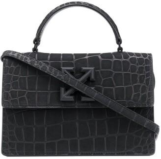 Off-White Jitney 1.4 crocodile-embossed leather bag