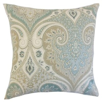Chandley Damask Bedding Sham Darby Home Co Size: Queen, Color: Seafoam