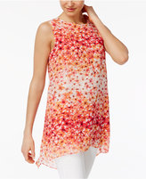 Calvin Klein Floral-Print High-Low Tunic, A Macy's Exclusive