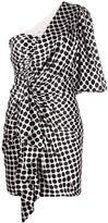 Alexandre Vauthier one-shoulder satin polka dot dress