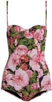 Dolce & Gabbana Rose-print balconette swimsuit