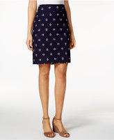 Charter Club Petite Embroidered-Anchors Pull-On Skort, Only at Macy's
