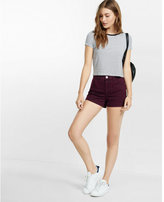 Express high waisted berry twill shorts