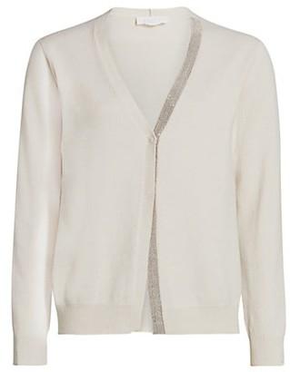 Fabiana Filippi Virgin Wool Silk V-Neck Knit Cardigan