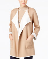 Alfani Colorblocked Open-Front Cardigan, Only at Macy's