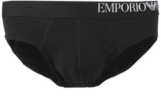 Emporio Armani Three-pack Of Briefs With Side Logo Waistband