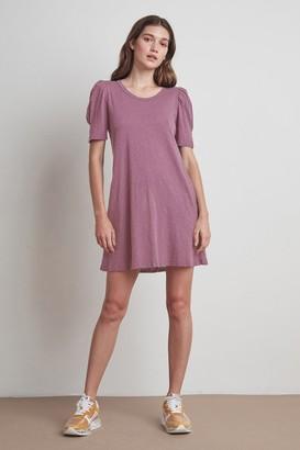 Velvet by Graham & Spencer Ira Cotton Slub Puff Sleeve Dress