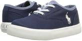 Polo Ralph Lauren Navy & Blue Chambray Vali Gore Chino Sneaker - Little Kid