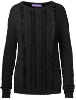 Ralph Lauren Fringed Cable Cashmere Sweater