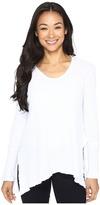 Mod-o-doc Vintage Slub Thermal Seamed V-Neck Pullover Women's Long Sleeve Pullover