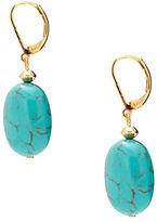Lauren Ralph Lauren Reconstituted Turquoise 14K Goldplated Drop Pierced Earrings