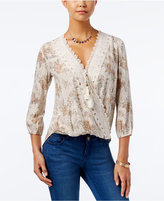 American Rag High-Low Surplice Top, Only at Macy's