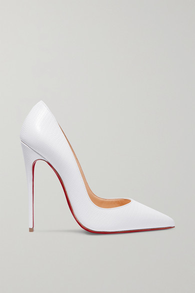 b32277f5301 So Kate 120 Lizard-effect Leather Pumps - White