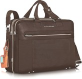 "Piquadro Link - Double Handle 15"" Laptop Expandable Case"