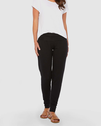 Bamboo Body - Women's Black Tapered pants - Bamboo Slouch Pants - Size One Size, XS at The Iconic