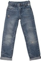 Courage&kind Washed & Stitched Cotton Denim Jeans