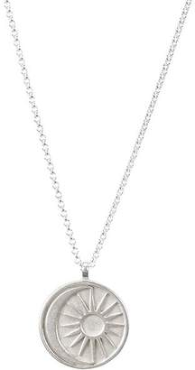 """Dogeared Sun & Moon Medallion Necklace in Sterling Silver, 20"""""""