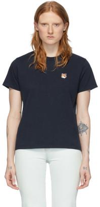 MAISON KITSUNÉ Navy Fox Head T-Shirt