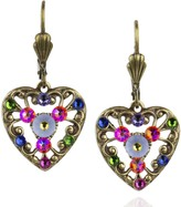 Swarovski Anne Koplik Crystal Heart & Lace Earrings