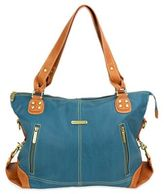 Timi & Leslie Kate 7-Piece Diaper Bag Set in Dark Teal/Saddle