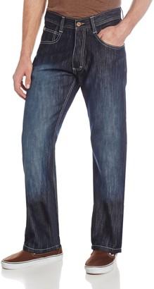 Southpole Men's 4180 Relaxed Fit ShJeany Streaky Jean Dark S& Blue 34X32