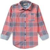 First Wave Big Boys 8-20 Plaid Button-Down Shirt