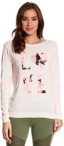 Betsey Johnson Love Dramatic Floral Acid Wash Pullover 8148957