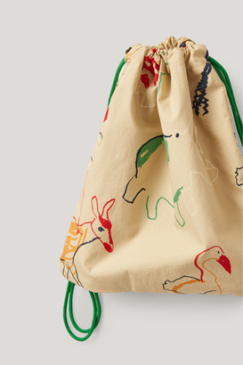 Cos Organic Cotton Animal Print Drawstring Bag