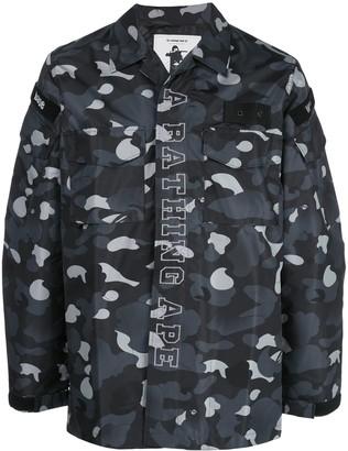 A Bathing Ape Gradation Camo Military shirt jacket
