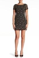 Maggy London Metallic Lace Shift Dress