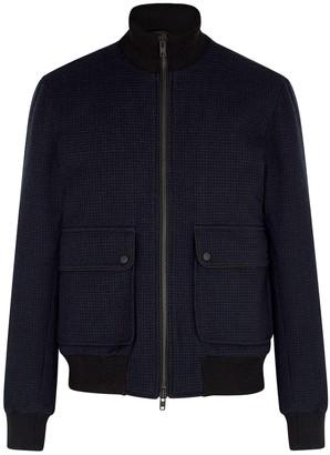 Oliver Spencer Onslow Navy Wool-blend Bomber Jacket