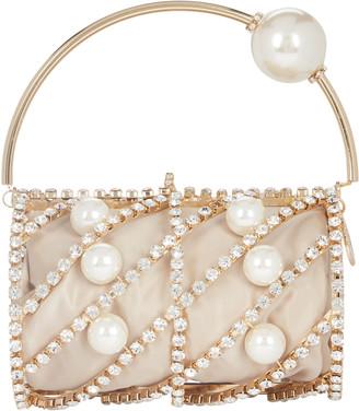 Rosantica Brigitta Pearl Embellished Barrel Bag