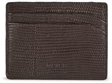 Reiss Hellon Print - Textured Leather Card Holder in Brown, Mens