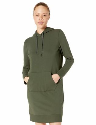 Core 10 Women's Standard Cotton Modal French Terry Fleece Hoodie Sweatshirt Dress