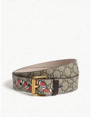 Snake GG Supreme leather belt