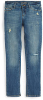 DL1961 Harper Distressed Slouchy Slim Leg Jean (Big Girls)