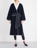Loewe Stitched wool and cashmere-blend coat
