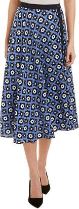 Nissa Linen-Blend A-Line Skirt