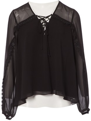 Haute Hippie Black Polyester Tops