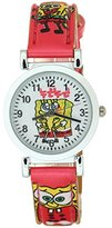 SpongeBob Figure TimerMall Kid Children Cartoon Quartz Wrist Watch Leather Strap Boys Girls Fashion