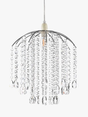 John Lewis & Partners Crystal Droplets Easy-to-Fit Ceiling Shade, Chrome