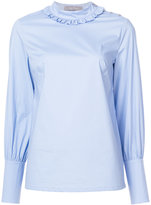 Lela Rose blouse with fitted cuffs